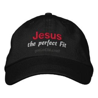 Jesus as lãs perfeitas de gotGod316.com do Boné Bordado