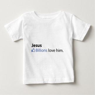 Jesus Camiseta Para Bebê