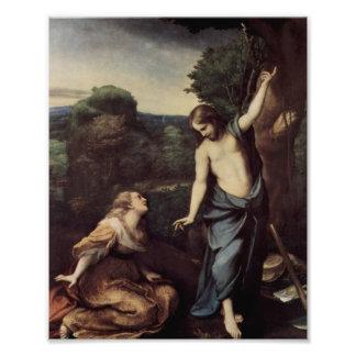 Jesus com a Mary após a ressurreição Impressão De Foto