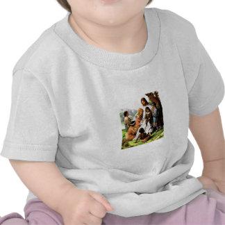 Jesus com camisa das crianças camiseta