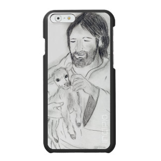Jesus com cordeiro capa carteira incipio watson™ para iPhone 6
