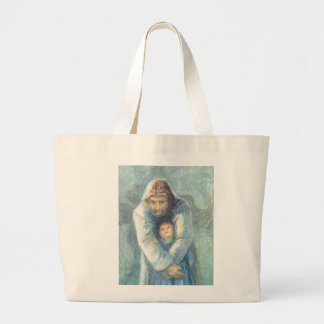 Jesus com uma criança bolsas para compras