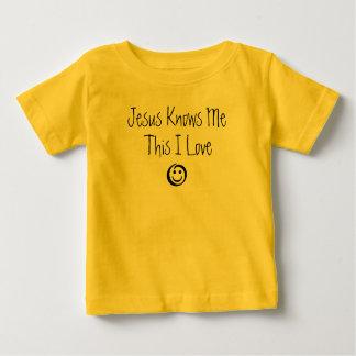 Jesus conhece-me isto amor de I Camiseta Para Bebê