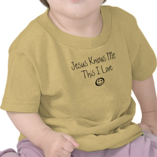 Jesus conhece-me isto amor de I Tshirts