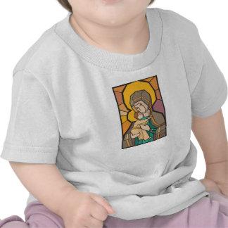 JESUS CRISTO COM MÃE MARY T-SHIRTS