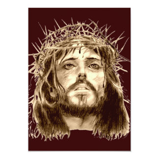 Jesus Cristo com uma coroa de espinhos Convite Personalizados