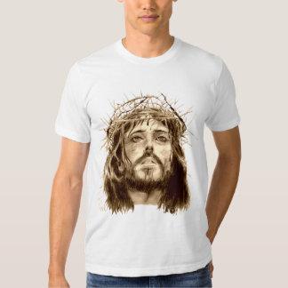 Jesus Cristo com uma coroa de espinhos T-shirt