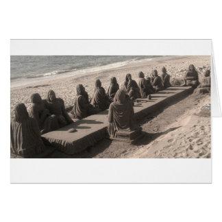 Jesus Cristo e discípulo - coleção Cartão Comemorativo