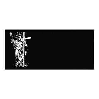 Jesus Cristo e uma cruz 10.16 X 22.86cm Panfleto