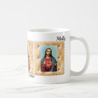 Jesus Cristo em um NOME da caneca de café do copo