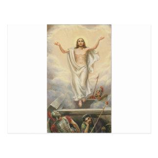 Jesus Cristo entre nuvens Cartão Postal