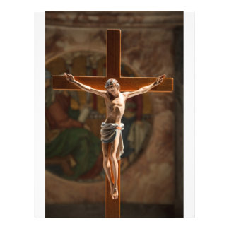 Jesus Cristo na cruz Panfleto Coloridos