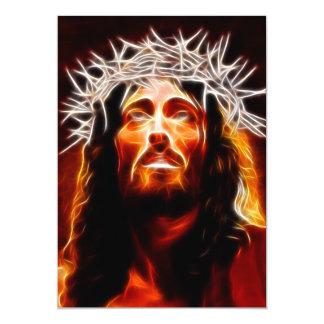 Jesus Cristo nosso salvador Convite 12.7 X 17.78cm
