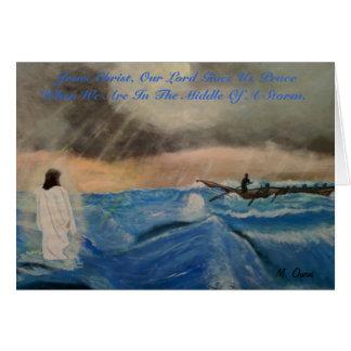 Jesus Cristo, nosso senhor Doação Nos paz Cartão Comemorativo