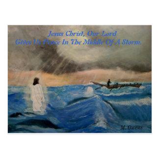 Jesus Cristo, nosso senhor Doação Nos paz Cartão Postal