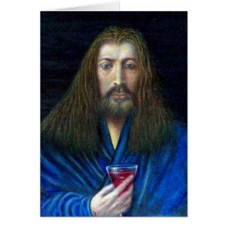 JESUS CRISTO, O CÁLICE CARTÃO COMEMORATIVO