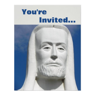 Jesus Cristo religioso Convites Personalizado