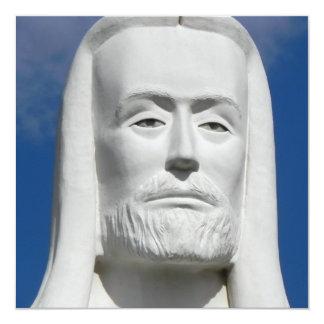 Jesus Cristo religioso Convite Quadrado 13.35 X 13.35cm
