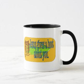 Jesus dá a uma buzina sobre você a caneca de café