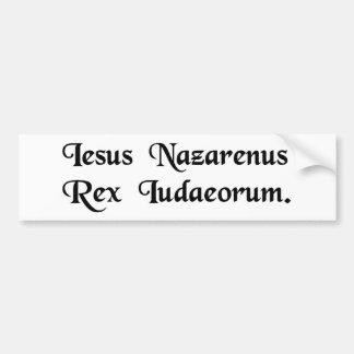 Jesus de Nazareth, rei dos Jews. Adesivo Para Carro