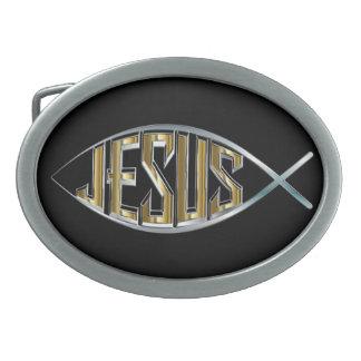 Jesus dentro de um símbolo dos peixes