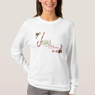 Jesus é a camisa longa da luva das senhoras da