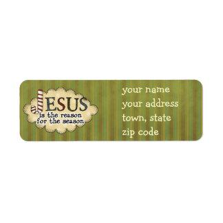 Jesus é a etiqueta de endereço do remetente do