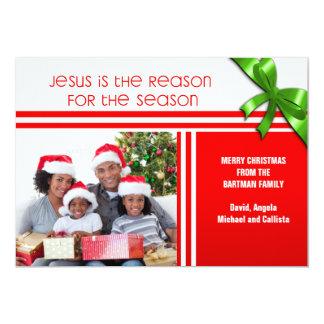 Jesus é a foto feita sob encomenda cristã da razão convite personalizados