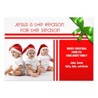 Jesus é a foto feita sob encomenda cristã da razão convites personalizado