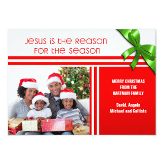 Jesus é a foto feita sob encomenda cristã da razão convite 12.7 x 17.78cm