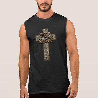 Jesus é a rocha! camisa sem manga