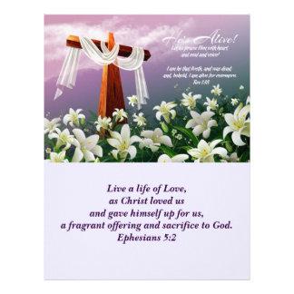 Jesus é aumentado! Boletins da igreja da páscoa Papeis De Carta Personalizados