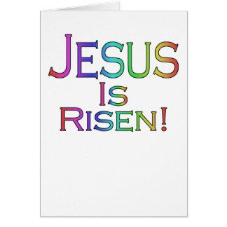 Jesus é aumentado! cartão de páscoa (do arco-íris)