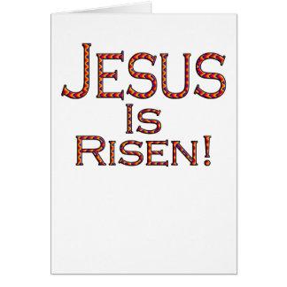 Jesus é aumentado! (cartão de páscoa do teste padr