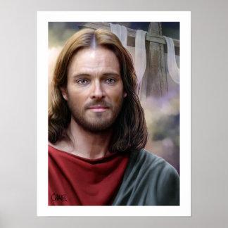 Jesus é aumentado pelo impressão da arte de Carlos