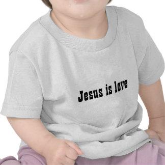Jesus é bebê do amor camiseta