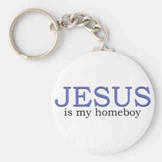 Jesus é meu ficar em casa chaveiros