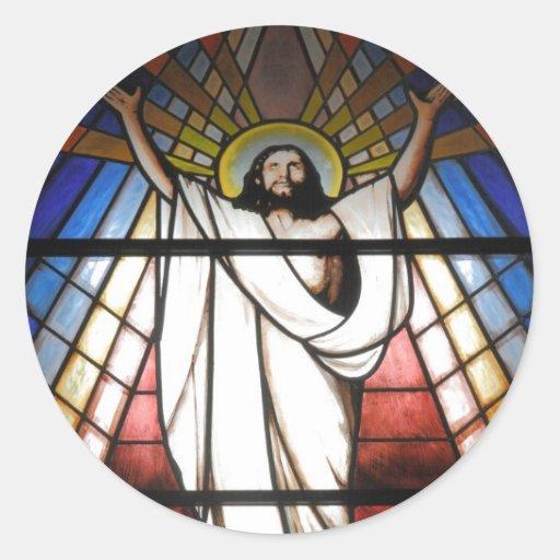 Jesus é nosso salvador adesivos redondos