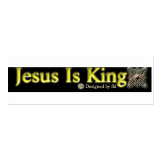 "JESUS É O REI magro, 3,0"" x 1,0"", 20 embala, branc Modelos Cartao De Visita"