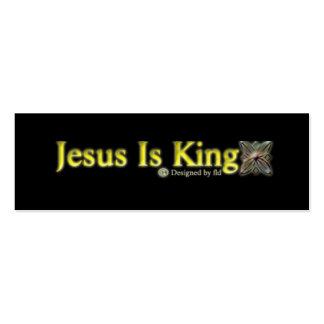 """JESUS É O REI magro, 3,0"""" x 1,0"""", 20 embala, Cartão De Visita Skinny"""