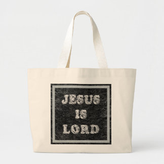 Jesus é senhor Cristão Fé Sacola Tote Jumbo