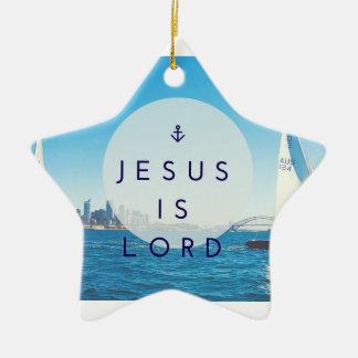 Jesus é senhor Estrela Ornamento