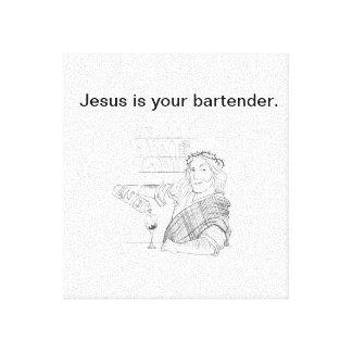 Jesus é seu impressão das canvas do barman