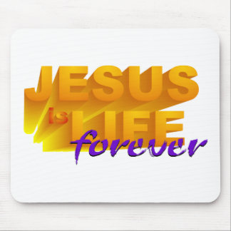 Jesus é vida para sempre mouse pad