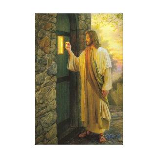 Jesus em suas canvas da porta