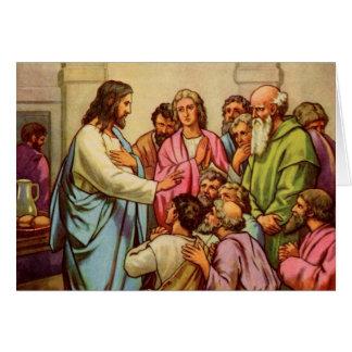 Jesus ensina um mandamento novo cartões