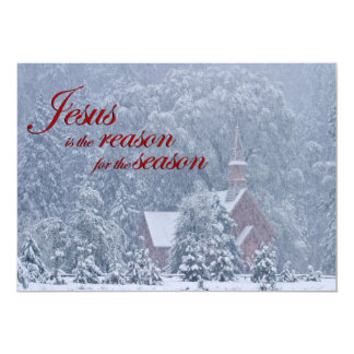 Jesus esta estação - capela de Yosemite na Convite 12.7 X 17.78cm