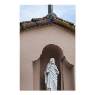 Jesus está lá modelo de panfletos