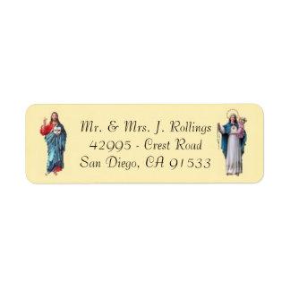 Jesus & etiquetas de endereço do remetente