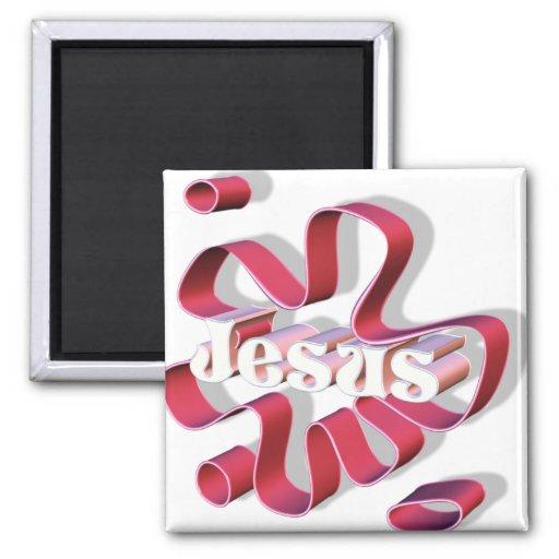 Jesus Flore 3D Imãs De Geladeira